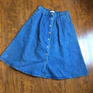 Zara- Premium Denim /Beautiful Button Up Skirt.
